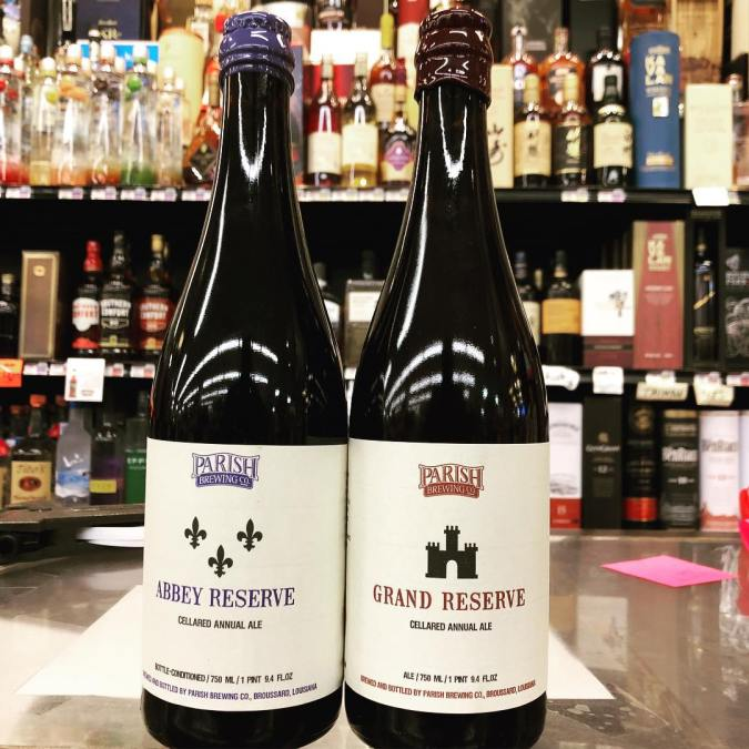 @parishbrewingco Grand Reserve and Abbey Reserve are both now in stock at our Perkins Rd…