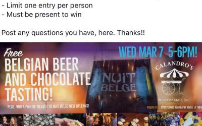 Nuit Belge Raffle info posted in the picture! Hope to see everyone tomorrow at 5…