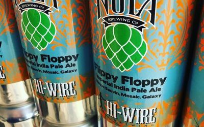 @nolabrewing collaboration with @hiwirebrewing Flippy Floppy Double IPA is now available at our Perkins Rd…