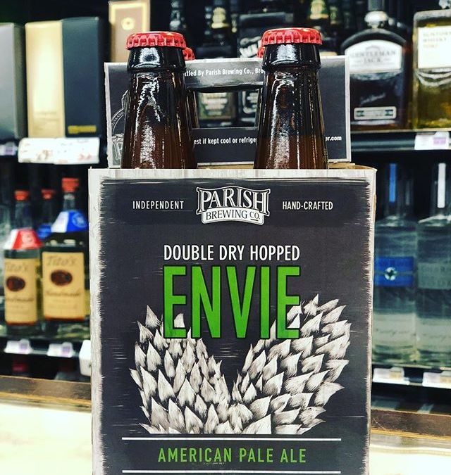 @parishbrewingco Double Dry Hopped Envie is now in stock at our Perkins Rd location! Limit…