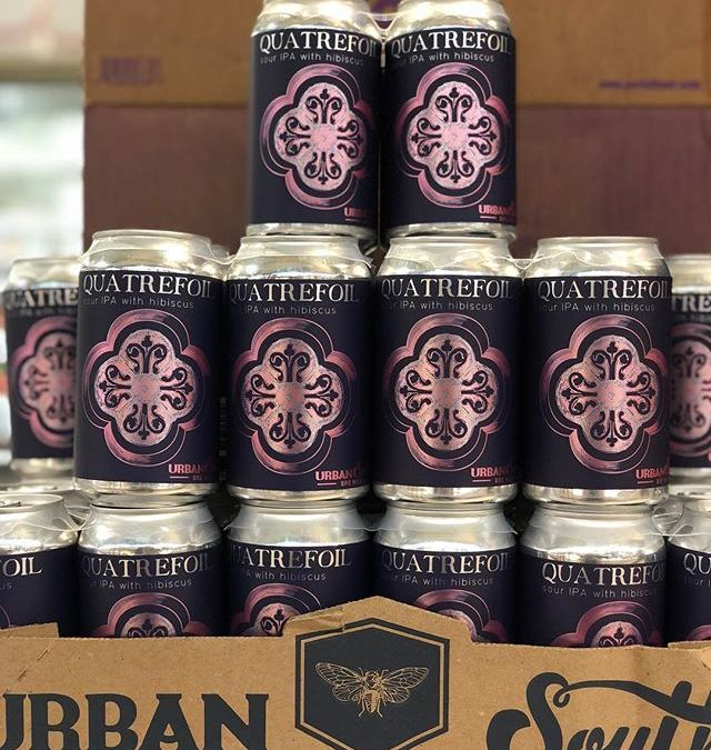 @urbansouthbeer Quatrefoil is now available at our Perkins Rd location! #beer #drinklocal #hibiscus🌺 #ipa
