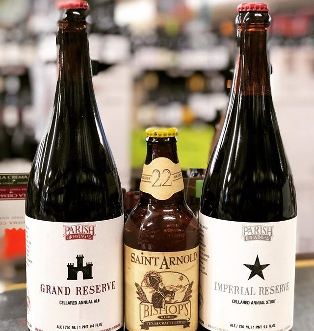 @parishbrewingco Grand Reserve and Imperial Reserve and @saintarnoldbrewing Bishop's Barrel 22 are both now available…