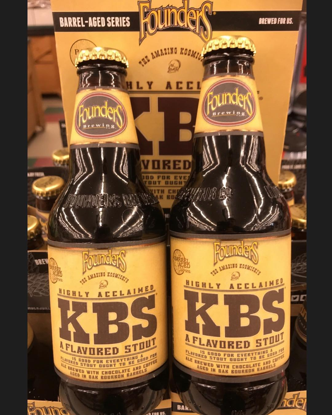 @foundersbrewing 2019 release of #KBS is available now at our Government St. location! $18.99 a…