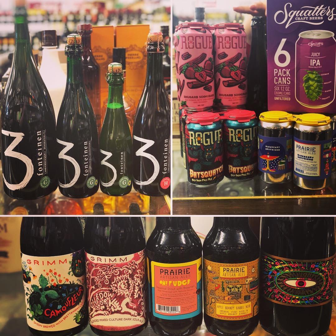 New brews now in stock at our #midcitybr location! #beer #barrelagedbeer #freshhops #bringthefunk