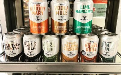 @cutwaterspirits line of pre-made cocktails in a can are now available at BOTH locations! Just…