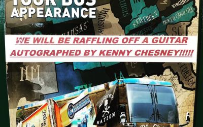 Just a reminder… tonight from 5–7. We will be raffling off a @kennychesney signed guitar…
