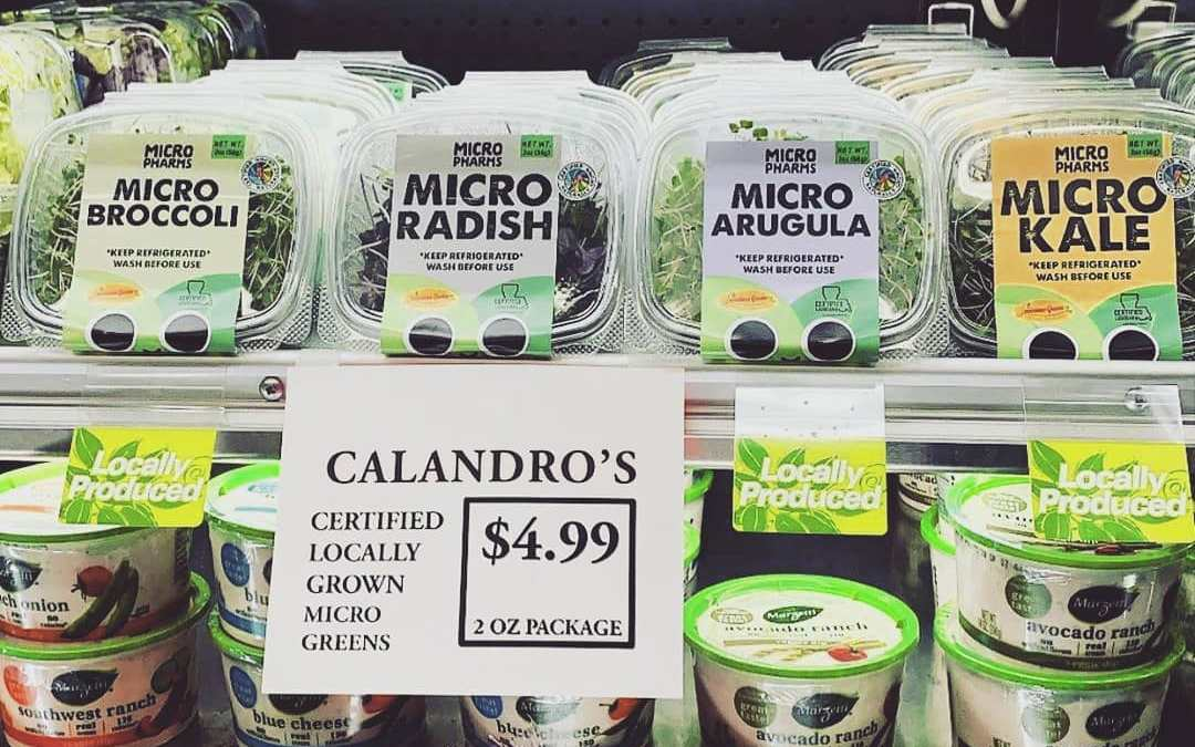 Locally produced, incredibly healthy, and amazingly delicious – grab some new @micropharms at Calandro's Mid-City…