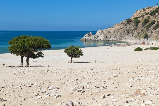 Plaja Ammos. Una dintre plajele din Samothraki