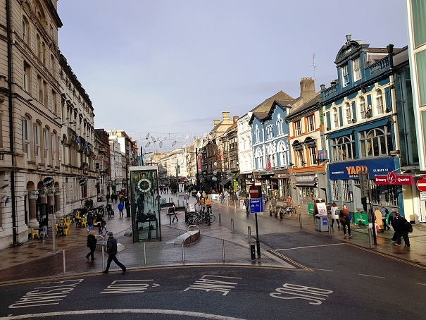 pieetonala in Cardiff