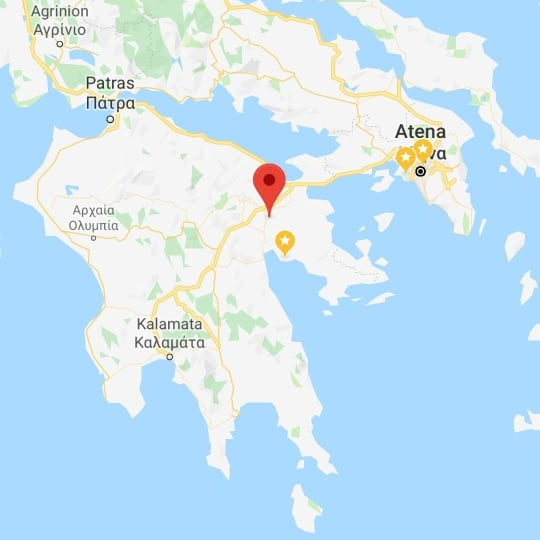 cetatea micene harta grecia