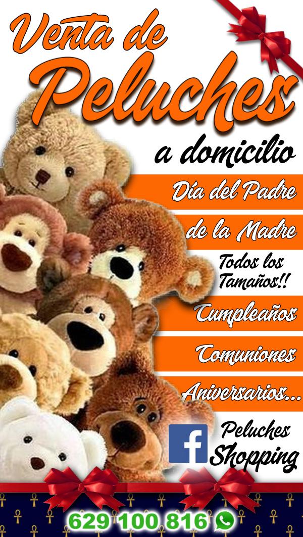 "Venta de Peluches a Domicilio - Siguenos en Facebook ""Peluches Shopping"" - 629 100 816 (también whatsapp)"