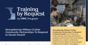 Strengthening Military-Civilian Community Partnerships To Respond to Sexual Assault
