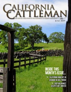 Spring cattle work on the cover of June 2019 California Cattleman