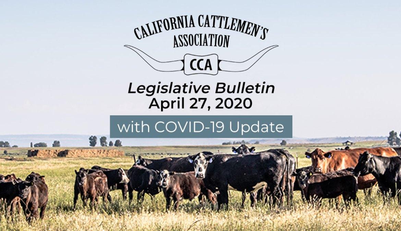 4/27 Legislative Bulletin with COVID-19 Update