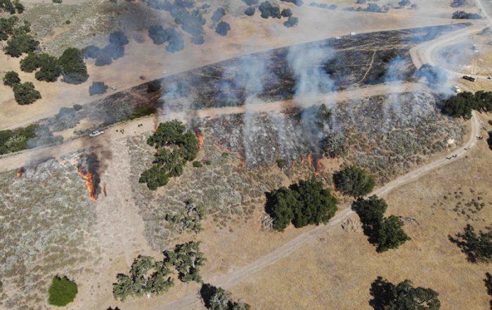 prescribed fire burning in Santa Barbara County