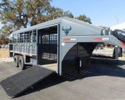 2021 18' Swift Built Steel Gooseneck Livestock Trailer