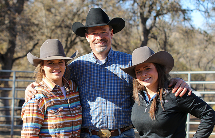 Tony with his daughters