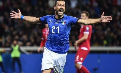 Esultanza Fabio Quagliarella Nazionale Italia