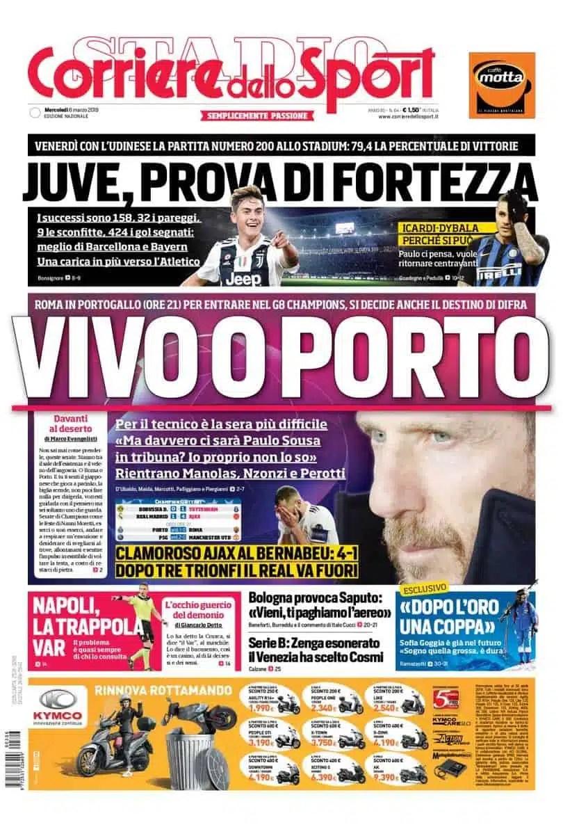 prima-pagina-corriere-dello-sport-6-3-2019