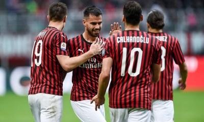 Esultanza giocatori Milan
