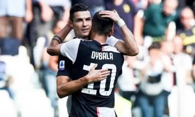 Abbraccio Ronaldo Dybala Juventus