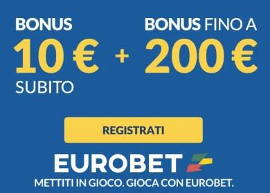 Bonus benvenuto eurobet