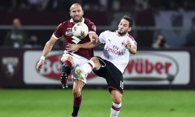 Lorenzo De Silvestri-Hakan Calhanoglu Torino-Milan