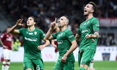 Esultanza gol giocatori Fiorentina