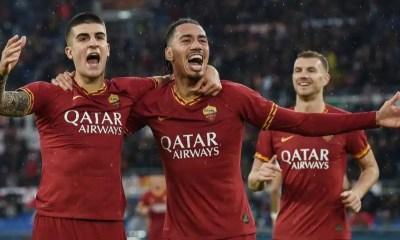 esultanza gol Gianluca Mancini Roma