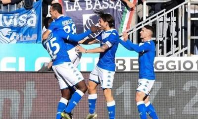 esultanza giocatori Brescia