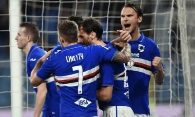 esultanza giocatori Sampdoria