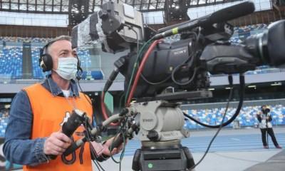 Cameraman tv telecamera