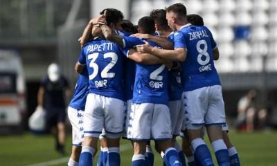Esultanza gol giocatori Brescia