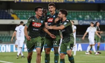 Esultanza gol giocatori Napoli