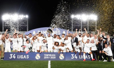 Esultanza Real Madrid Liga