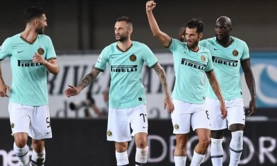 Esultanza gol Antonio Candreva Inter