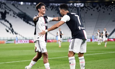 Esultanza gol Cristiano Ronaldo Paulo Dybala Juventus