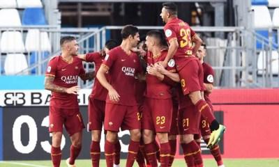 Esultanza gol giocatori Roma