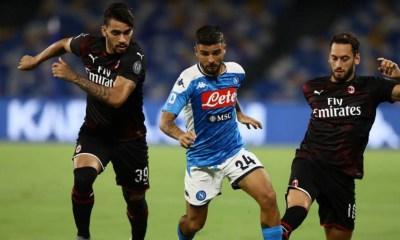 Lorenzo Insigne-Lucas Paqueta'-Hakan Calhanoglu Napoli-Milan