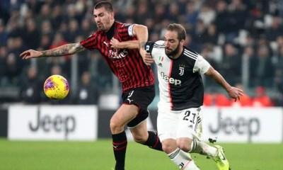 Romagnoli Higuain Milan-Juventus
