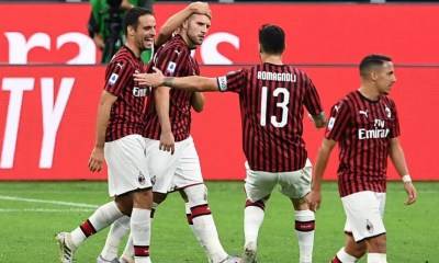 esultanza gol Ante Rebic Romagnoli Milan