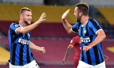esultanza gol Stefan De Vrij Skriniar Inter