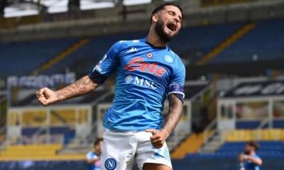 esultanza gol Lorenzo Insigne Napoli