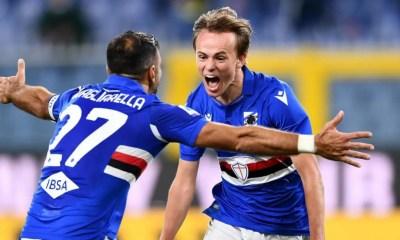Quagliarella Damsgaard Sampdoria