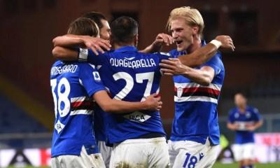 esultanza gol Mikkel Damsgaard Sampdoria