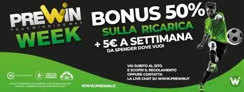 Bonus benvenuto Prewin