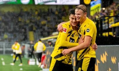 Esultanza Erling Haaland Borussia Dortmund Bundesliga