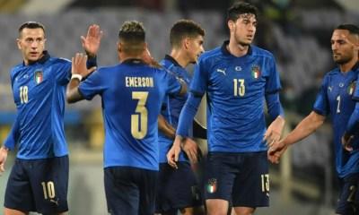 Esultanza giocatori Nazionale Italia