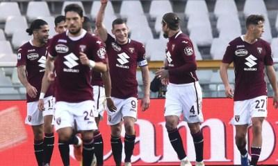 Esultanza gol Belotti Torino