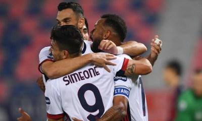 Esultanza gol Joao Pedro Simeone Cagliari